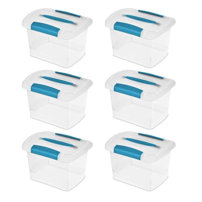 18728606 Sterilite Small Nesting ShowOffs Clear File Box w/ Latches (Open Box)(6 Pack) 1