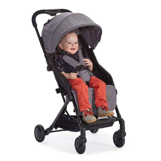 ZL034-GRN1 Contours Bitsy Lightweight Compact Folding Stroller, Granite Gray 4