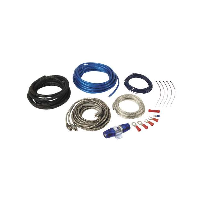 planet audio 8ga amplifier wiring kit w rca pak8