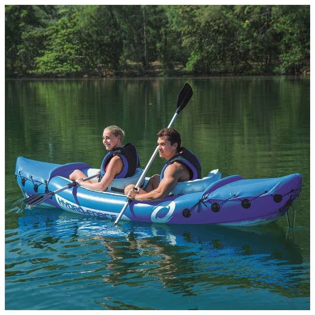 "65077E-BW-U-A Bestway 126 x 35"" Lite-Rapid X2 Inflatable Kayak w/ Oars (Open Box) (2 Pack) 6"