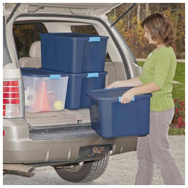 18 x 14467406-U-A Sterilite 18 Gallon Latch and Carry Storage Tote Box (Open Box) (18 Pack) 2