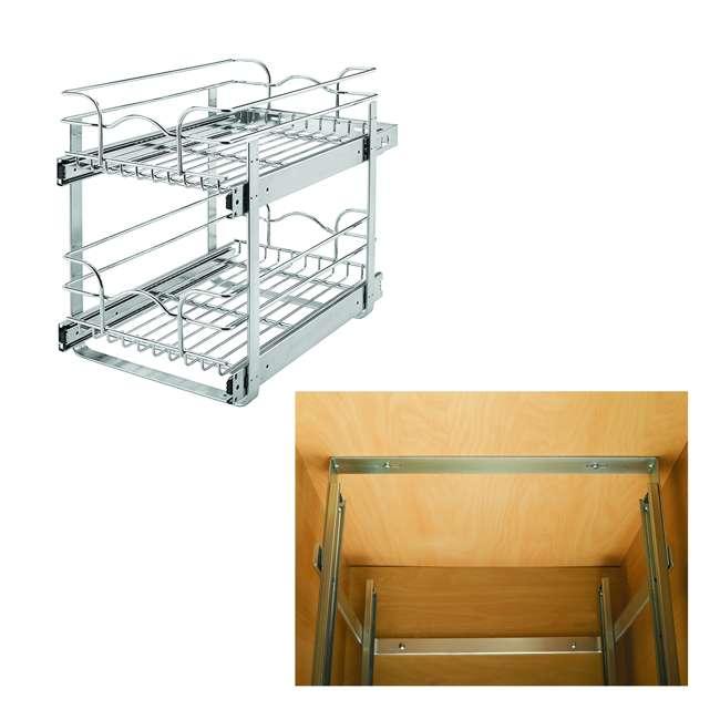 "5WB2-1522-CR 15"" Wide Base Kitchen Cabinet Bundled w/ Mount Kit for Kitchen Cabinet Pull Out Baskets"