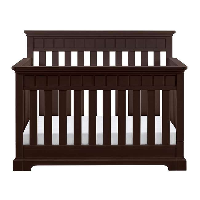 04565-509 + EM711-GJL1 Thomasville Kids Willow Crib, Espresso & Sealy Soybean Crib Mattress 5