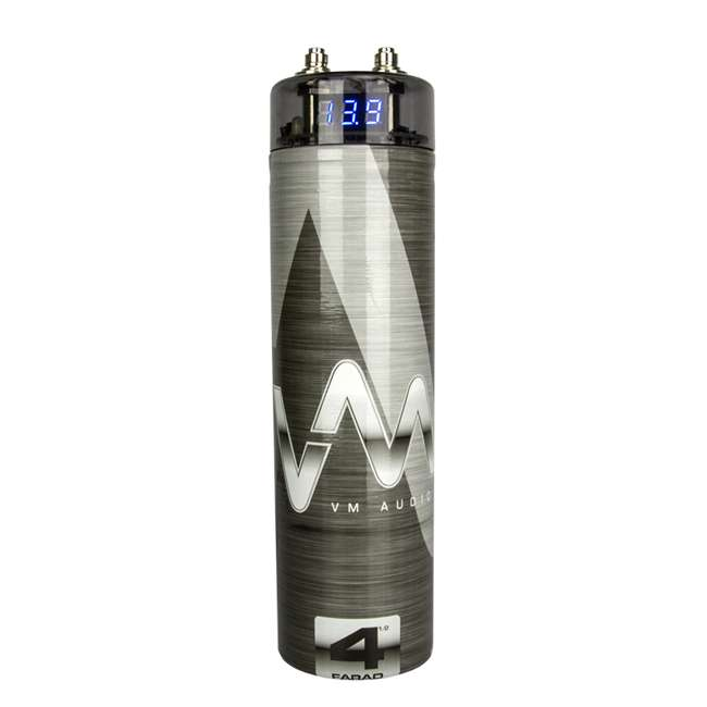 VM-SRA500.2 + VM-SRPK8R + VM-SRCAP4.5 VM Audio SRA500.2 500W 2 Channel Amplifier with 8 Gauge Wiring Kit and 4.5 Farad Capacitor 6