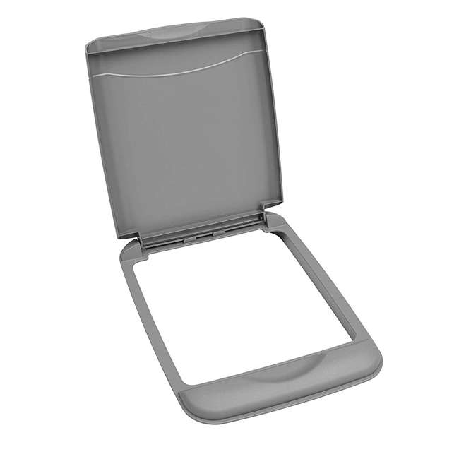 RV-35-LID-17-1 Rev A Shelf 35 Quart Polymer Trash Container Replacement Lid Accessory, Gray