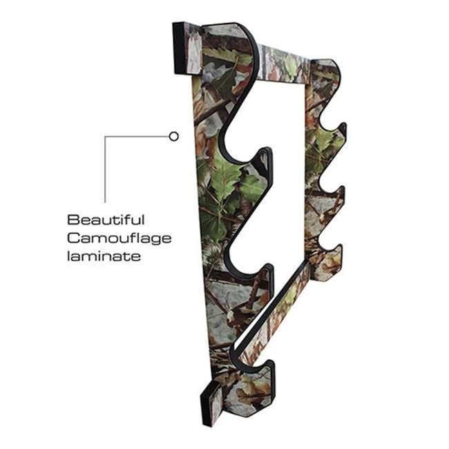 38-4042 Rush Creek Creations 38-4042 Camouflage Laminate 3 Gun Mounted Display Wall Rack 2