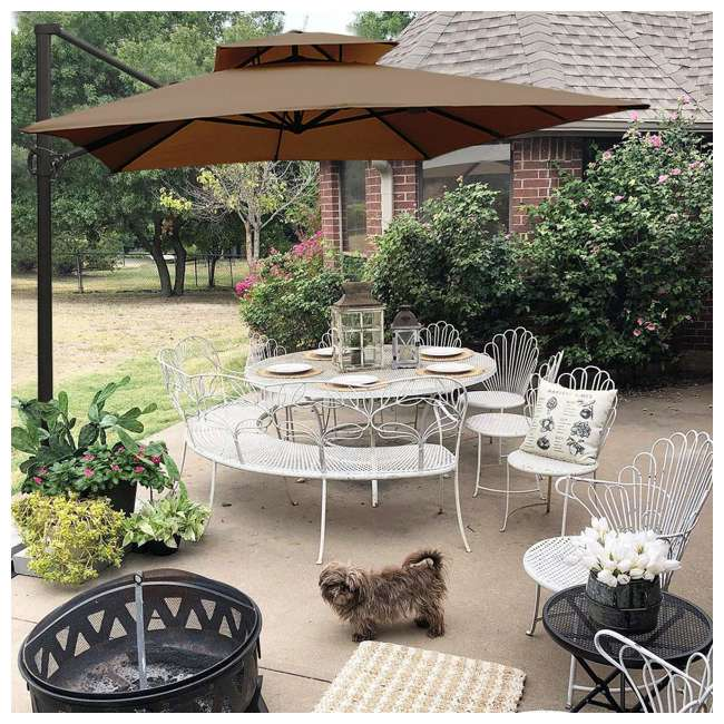 APNDRC912DT Abba Patio 9 x 12 Feet Rectangular Umbrella, Cocoa 2