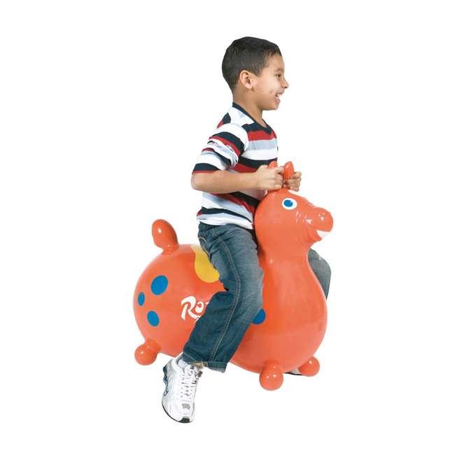 KET-8005 Gymnic 8005 Rody Horse Ride-On Vinyl Toddler Rocking Toy, Orange 2