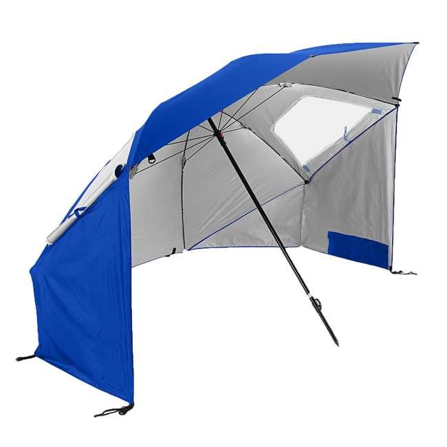BRE01-SUP-075-2 Sport-Brella Super-Brella 8-Foot Portable Sun Shelter Weather Umbrella, Blue
