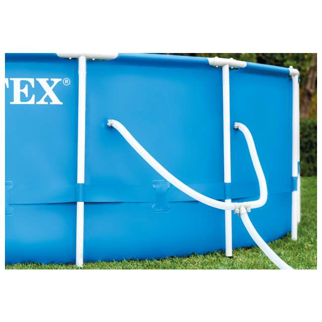 28211EH-U-A Intex 12 x 2.5 Foot Metal Frame Above Ground Pool and Filter (Open Box) (2 Pack) 10