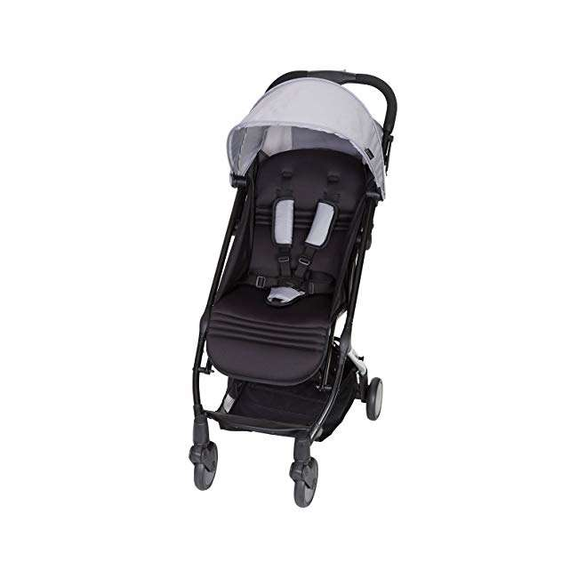 ST49A67A Baby Trend Tri Fold Lightweight Compact Mini Stroller with Carry Strap, Pebble