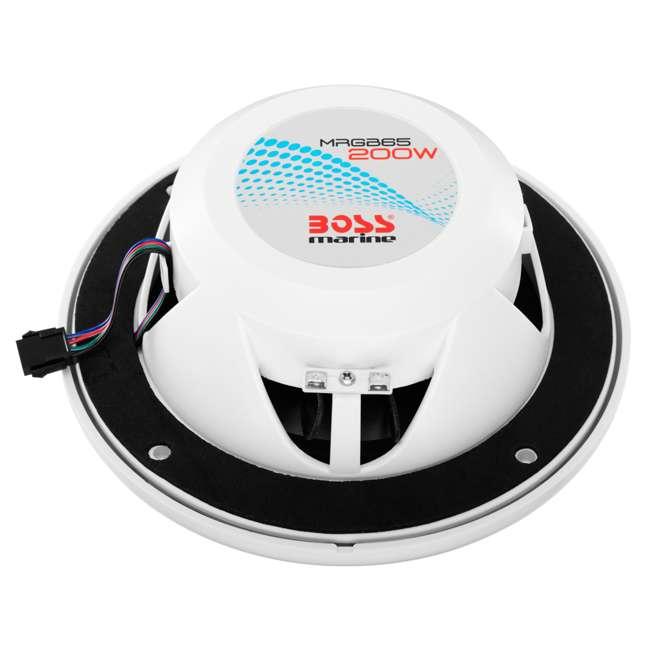 MRGB65 Boss Audio Marine 200W MRGB65 6.5 Inch Boat Light White Speakers Pair (Pair) 3
