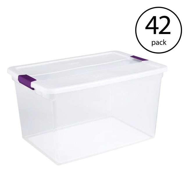 42 x 17571706 Sterilite 66-Quart ClearView Latch Box | 17571706 (42 Pack)