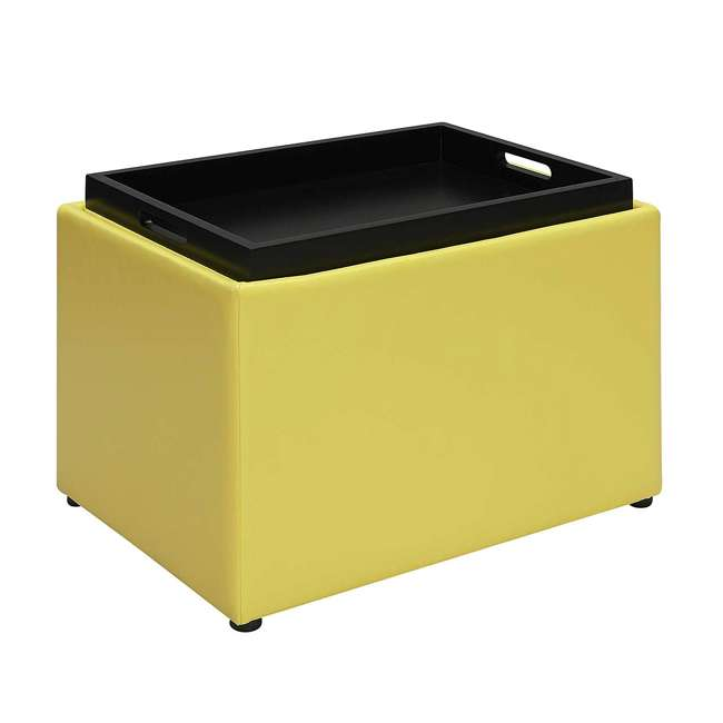 R8-160 Convenience Concepts R8-160 Designs4Comfort Accent Storage Space Ottoman, Yellow 2