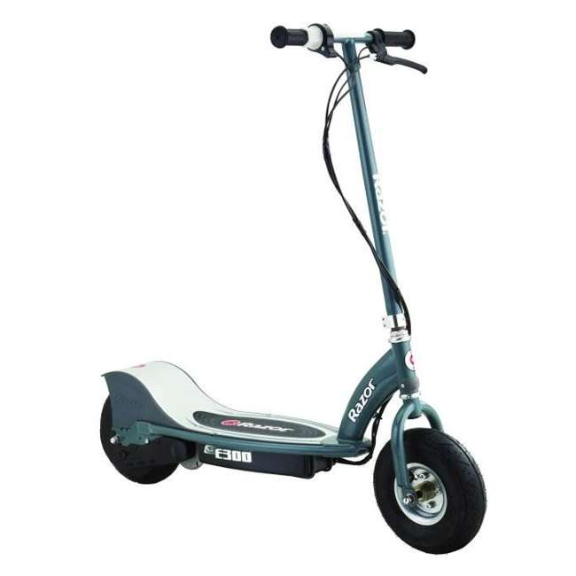 13113614 + 97778 Razor E300 Electric Scooter (Grey) & Youth Sport Helmet (Black) 1