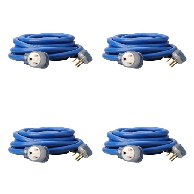 4 x 19178806 Southwire 25-Foot STW Weather Resistant Extension Cord, Blue (4 Pack)