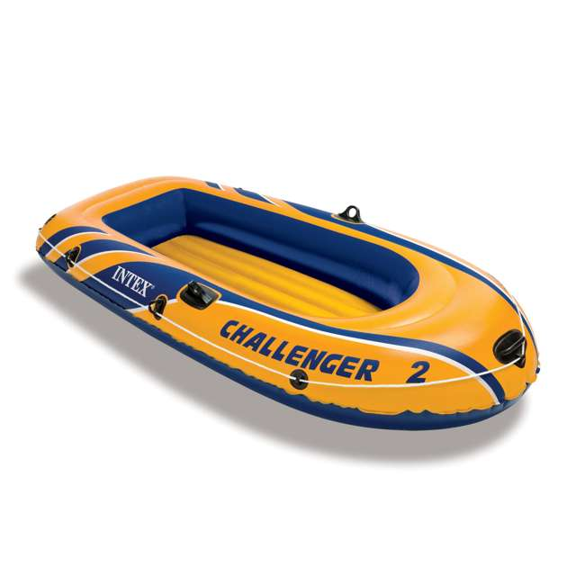 68367EP-U-A INTEX Challenger 2 Inflatable Boat Set with Air Pump & Oars (Open Box) (2 Pack) 1