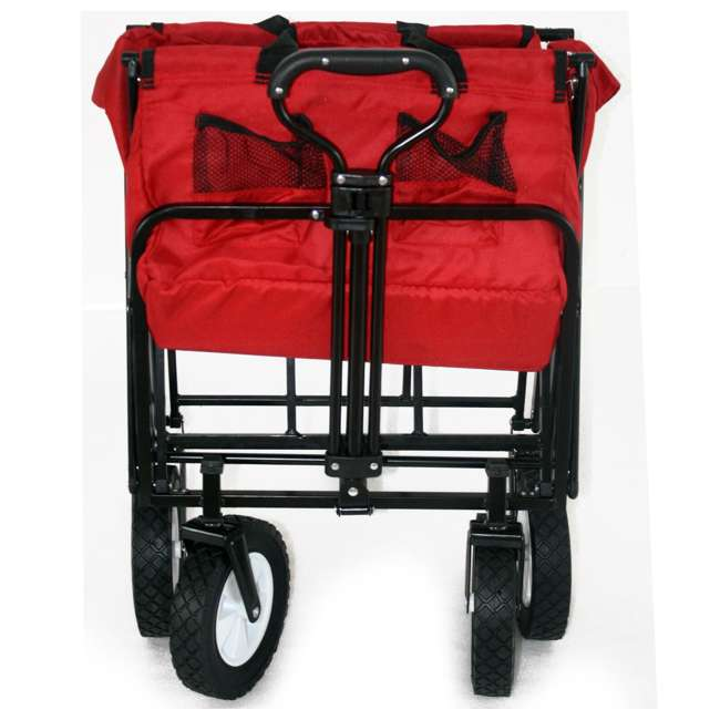 MAC-WTC-109-RED-U-A Mac Sports Collapsible Steel Frame Outdoor Utility Cart(Open Box) (2 Pack) 5