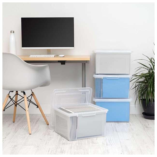 586490-4PK IRIS 586490 Clear Transparent Legal Size File Box Medium Dual Filter, Pack of 4 1
