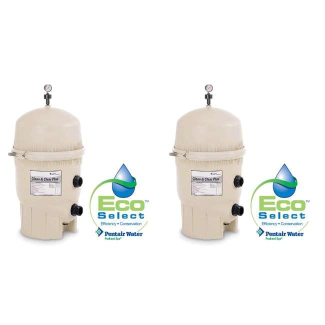 160340 PENTAIR 160340 CCP320 Clean & Clear Plus Cartridge Inground Swimming Pool Filter (2 Pack)
