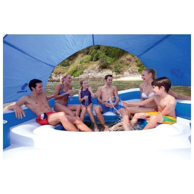 "43105E-BW-U-A Bestway 153""x108"" Tropical Breeze Large Floating Island Lounge(Open Box)(2 Pack) 3"
