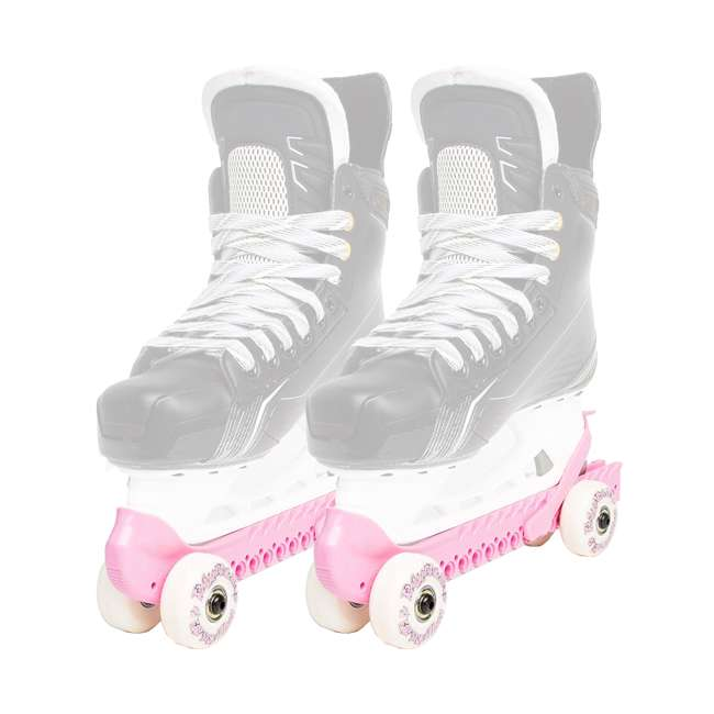 0G144500T1A-S + 44374-P Rollerblade Bladerunner Micro Ice G Skates, Small, and Skate Guard Rollers (Pair) 5