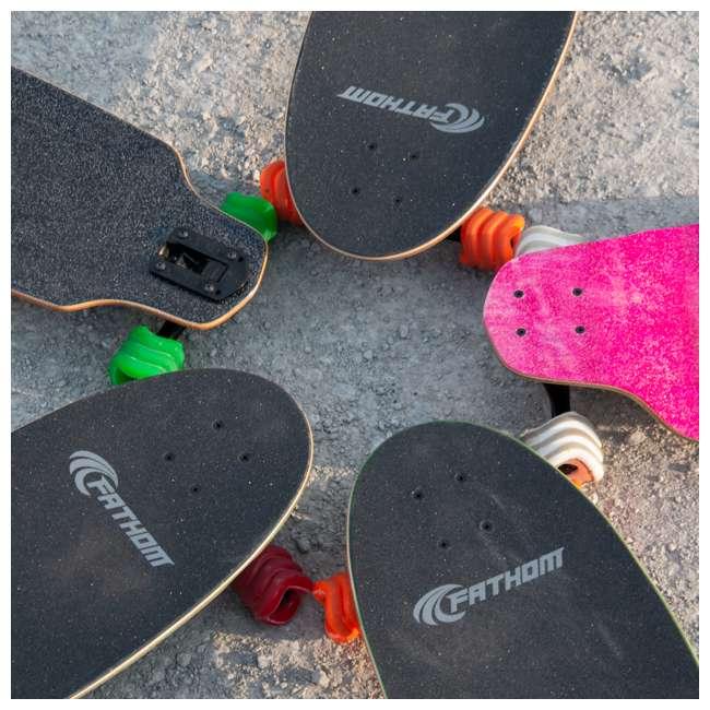 1001S60MMS78AR-OB Shark Wheel California Roll 60mm 78A Skateboard Wheels, Red(Open Box) 4