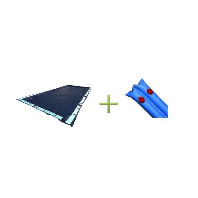 CO82137R + 10 x ACC110DU [Copy 1] 16x32 Dark Blue Winter Rectangular Inground Swimming Pool Cover w/Water Tubes