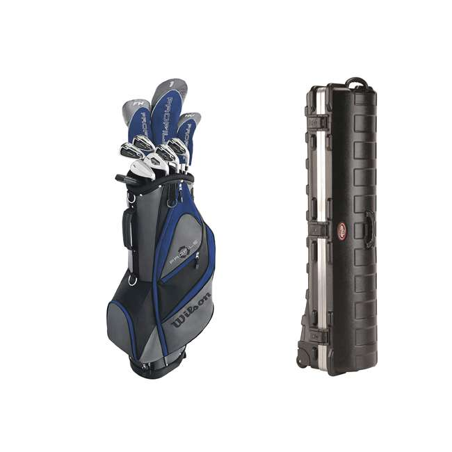WGGC58200 + 2SKB-1649W Wilson Men's Senior Right Hand Golf Set & Wheeled Travel Case