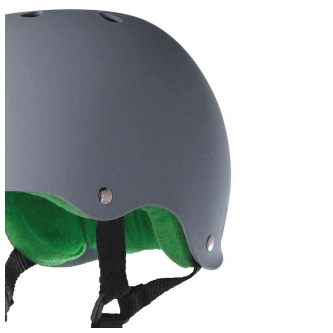 12 x T8-1077 Triple 8 Hardened Skate Helmet with Sweatsaver Liner, Carbon - Medium (12 Pack) 5