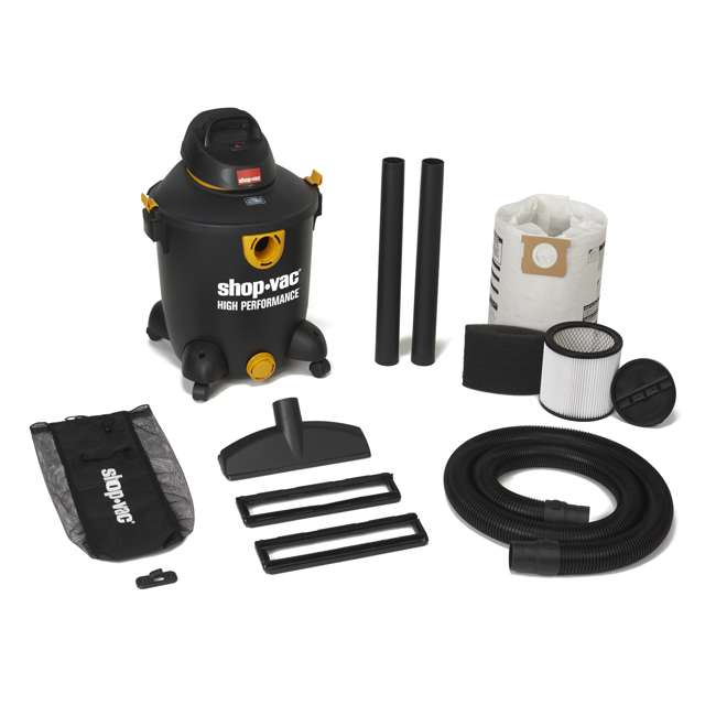 5987300 Shop Vac 12 Gallon 5.5 HP Wet Dry Vacuum Cleaner Portable High Performance 1
