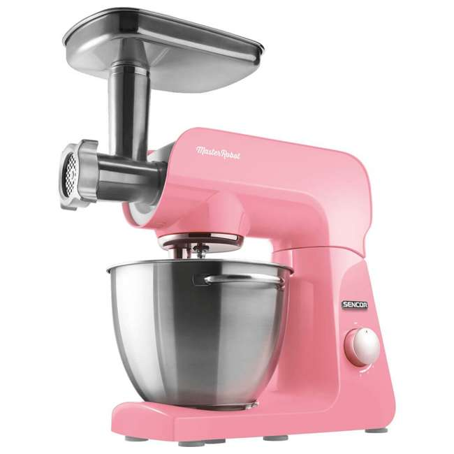 STM44RD-NAB1 Sencor STM44RD 8 Speed 4.7 Quart Stand Mixer with Beater and Hook, Pastel Red 3