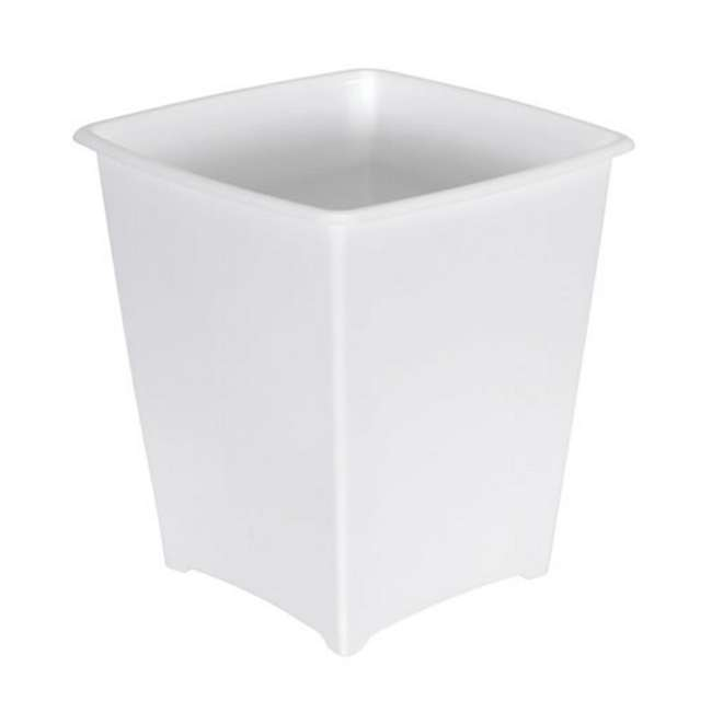 FG238200WHT Rubbermaid 8 Quart Bedroom, Bathroom, and Office Wastebasket Trash Can, White