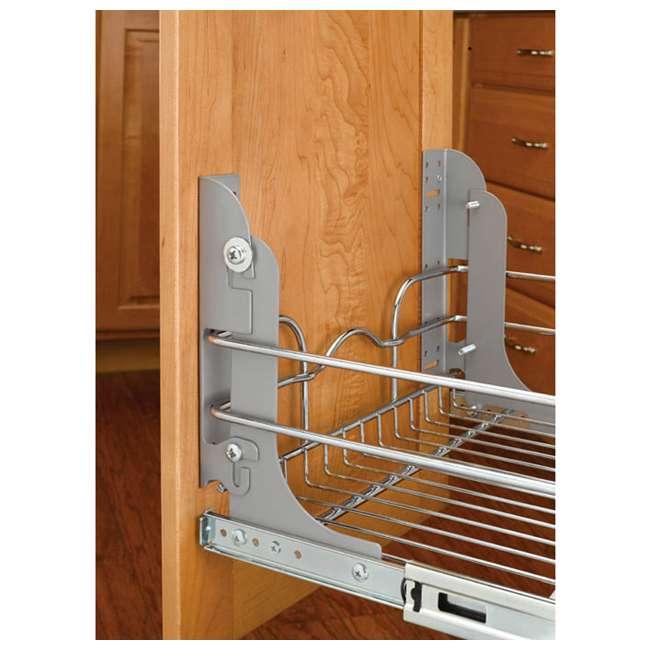 5WB1-1522-CR Rev-A-Shelf 5WB1-1522-CR 22 Inch Base Cabinet Pullout Single Wire Sink Basket 3