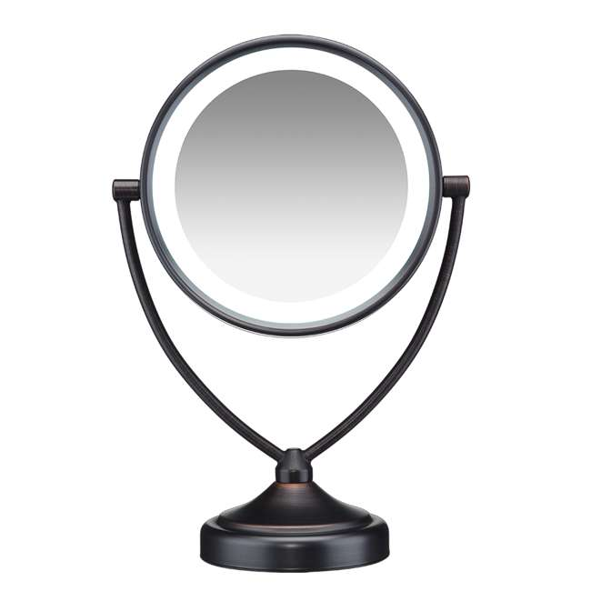 BE122BRAM Conair Illuminations BE122BRAM 1X/10X Fluorescent Vanity Mirror, Oiled Bronze