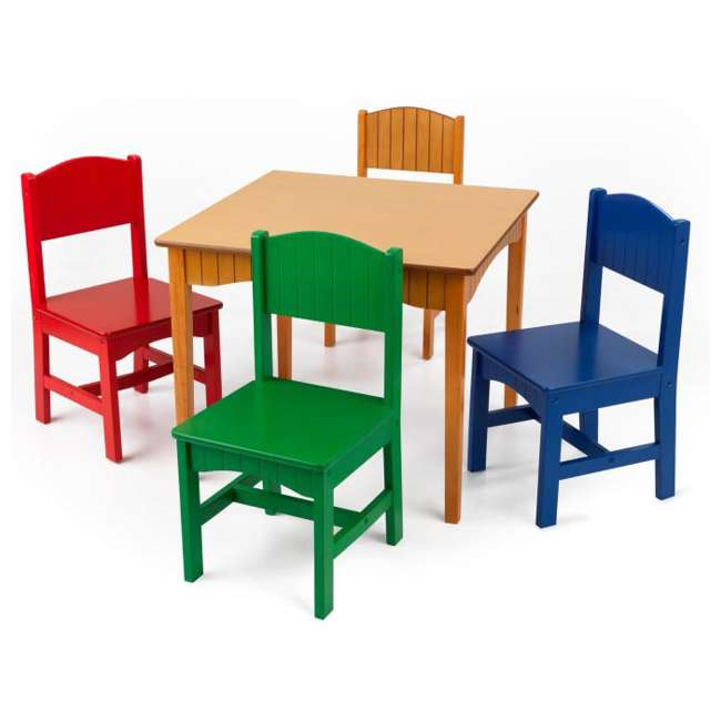 Kidkraft Nantucket Table Amp 4 Chairs Set Primary Colors