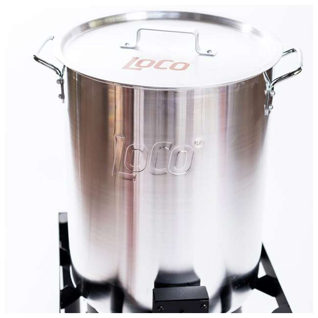 LCPTFK36 LoCo Cookers LCPTFK36 Stainless Steel 36 Quart Outdoor Propane Turkey Fryer 3