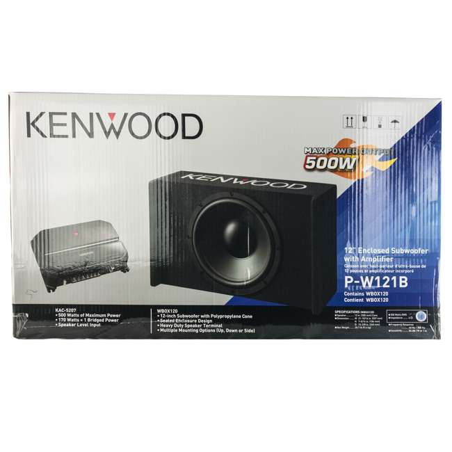 P-W121B Kenwood P-W121B 12-Inch Loaded Sealed Subwoofer & Amp Package 4