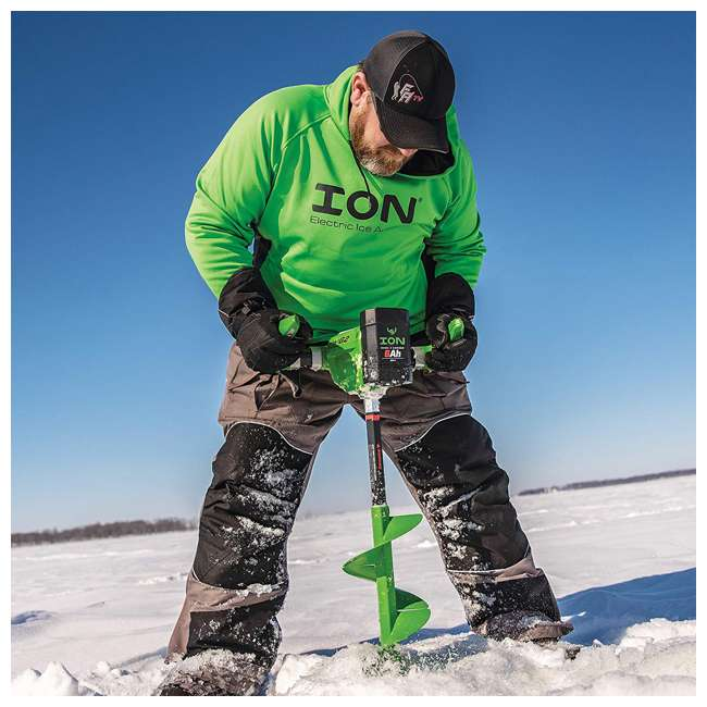 ION39350 ION G2 39350 8 Inch Lithium Ion Electric Ice Fishing Auger w/ Reverse & Battery 4