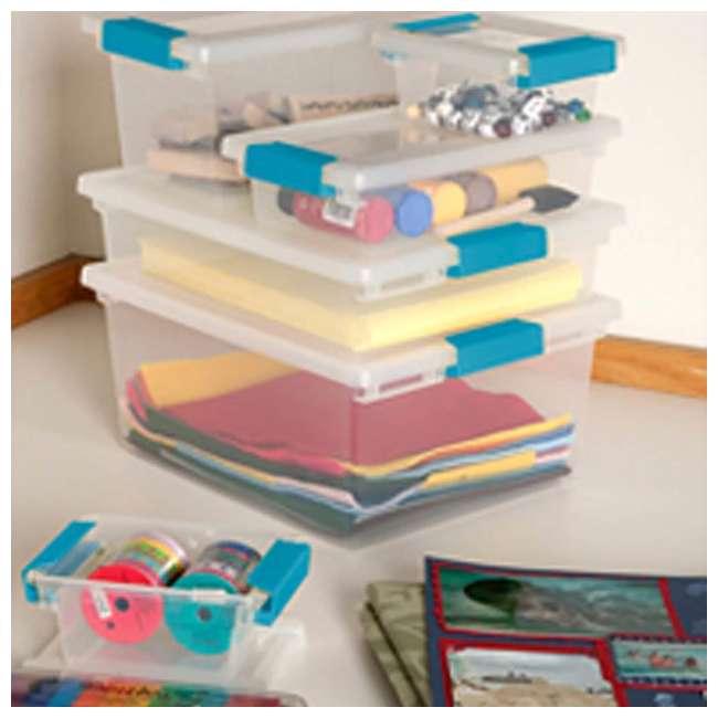 36 x 19698606-U-A Sterilite Clip Plastic Storage Box w/ Blue Aquarium Latches (Open Box) (36 Pack) 3