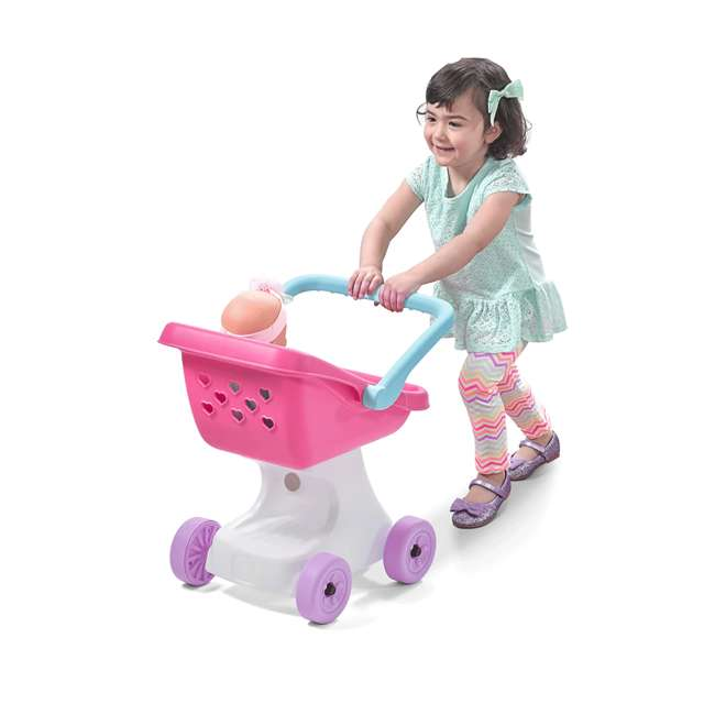 854100 Step2 Love & Care Baby Doll Kids Push Stroller Toy, Pink 2