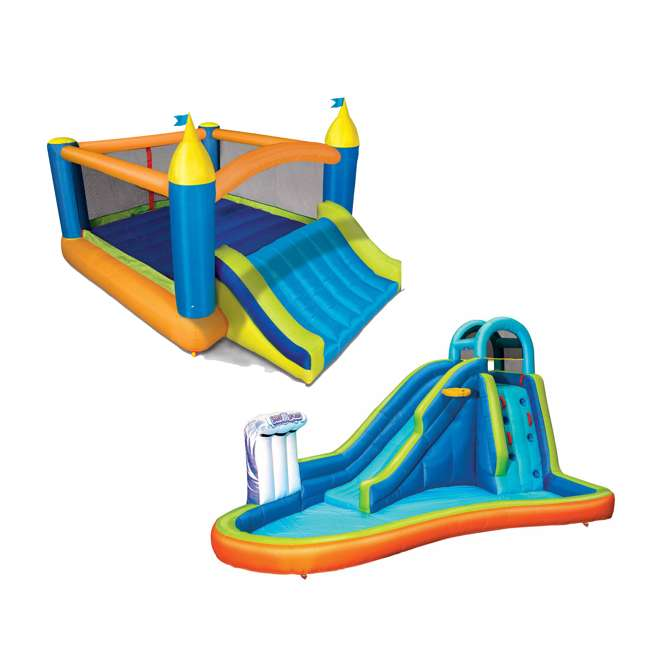BAN-99522 Banzai Deluxe 2 in 1 Water Park and Bounce House Combo Pack