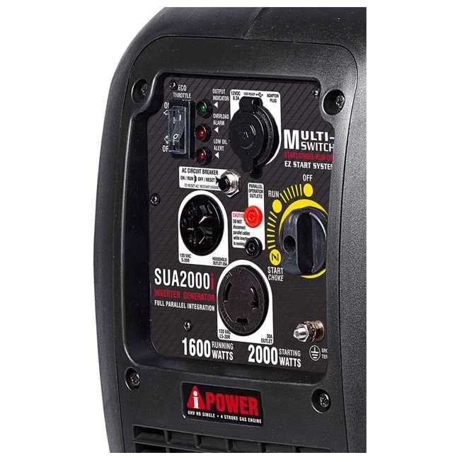 SUA2000i A-iPower SUA2000i Super Quiet 1600-Watt Portable Digital Inverter Gas Generator 3