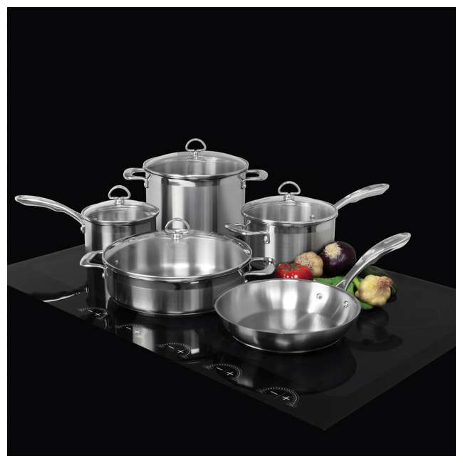 SLIN-9 Chantal Induction 21 Steel Cookware Set, 9-Piece (2 Pack) 3