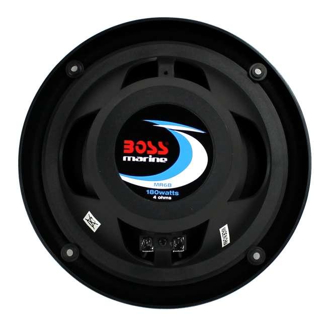 "6 x MR6B Boss 6.5"" 180W Dual Cone Black Marine Audio Speakers (12 Pack) 4"
