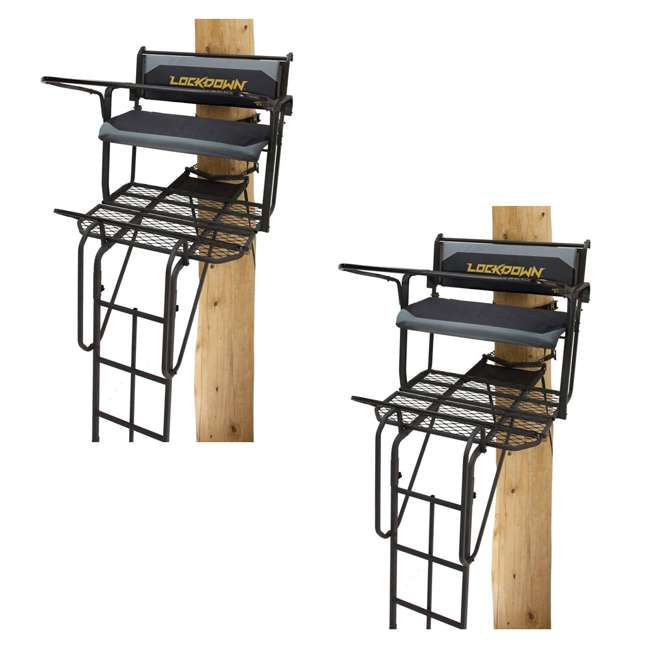 RE650 River's Edge RE650 Lockdown 21-Foot 2-Man Tree Ladder Stand (2 Pack)