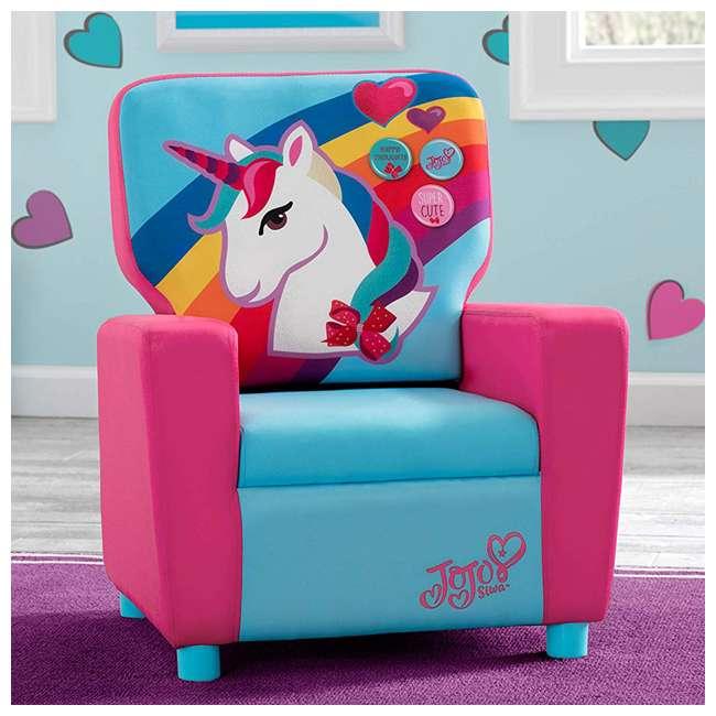 UP83637JS-1126 Delta Children Jojo Siwa High Back Upholstered Toddler Kids Chair, Pink/Blue 3