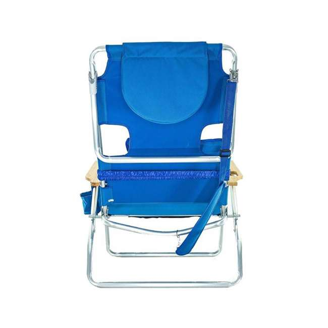 3 x D3N1-1001B Ostrich Deluxe Padded 3-N-1 Outdoor Lounge Reclining Beach Chair, Blue (3 Pack) 3