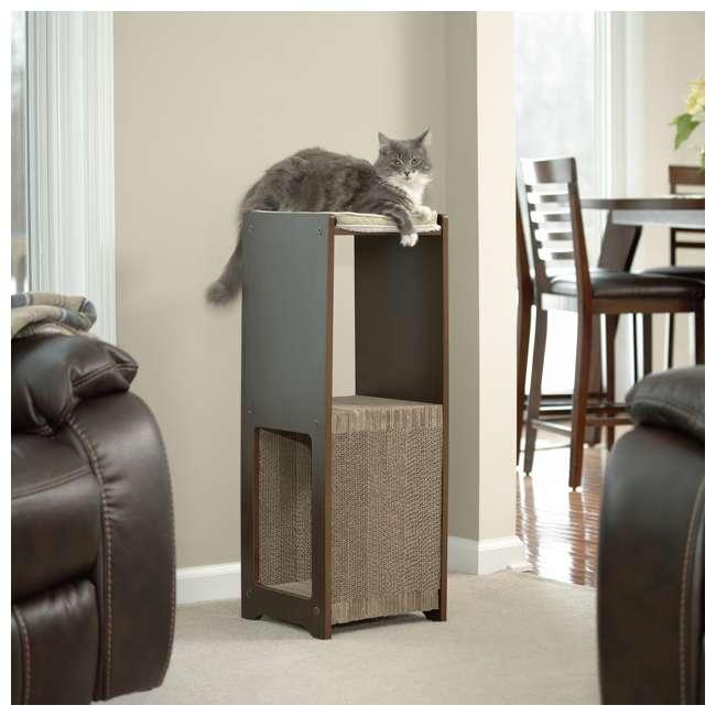 Sauder Furniture Elevated Perch Cat Pad Scratcher Espresso Sf 417193