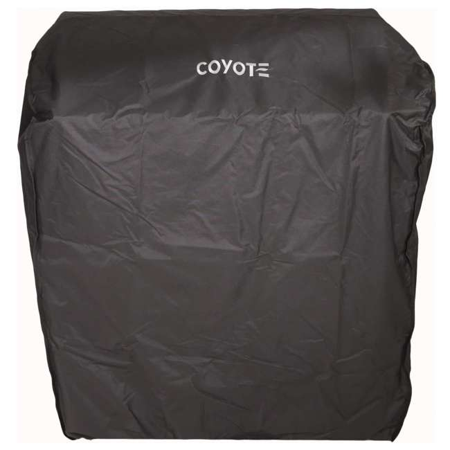 CCVR30-CT Coyote Outdoors 30 In Vinyl Protective Weatherproof Cart Grill Cover for C2SL30